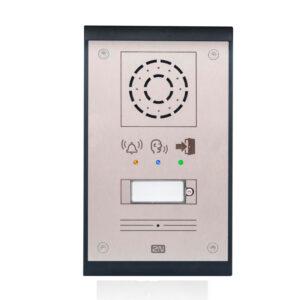 intercomunicador para puertas en términos de posibilidades, para una instalación simple. Ofrece las ventajas de un entorno IP y teléfono SIP